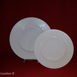 Assiette porcelaine paille